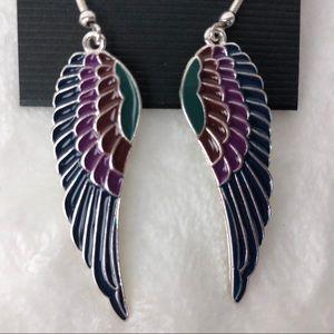 Angle Wings Long Dangle Earrings NEW